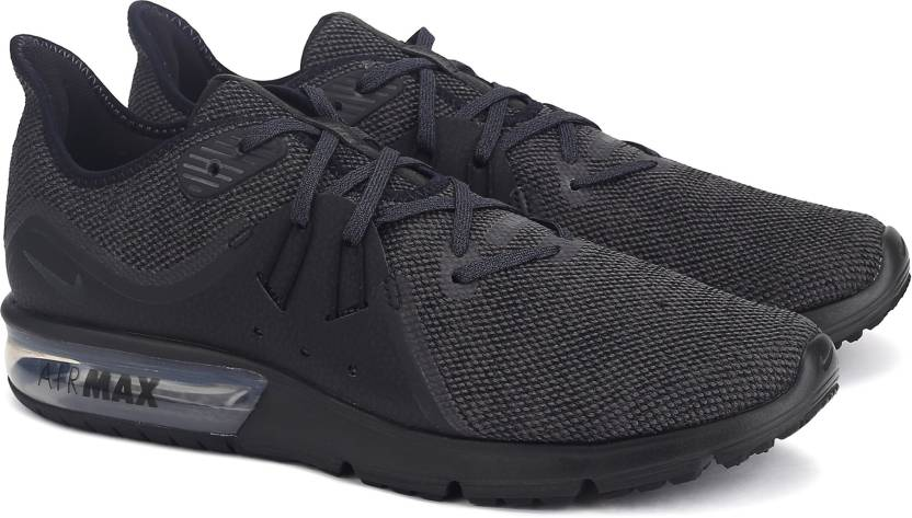 info for 510f2 978e7 Nike AIR MAX SEQUENT 3 Running Shoes For Men (Black, Grey)