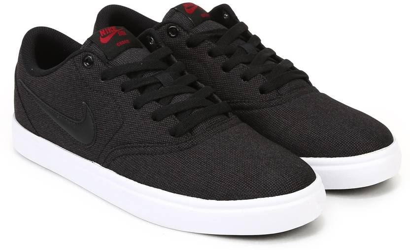 promo code e34a5 fd7dc Nike SB CHECK SOLAR CNVS Sneakers For Men (Black)