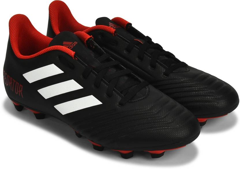 online store 878d3 ef249 ADIDAS PREDATOR 18.4 FXG Football Shoes For Men (Red, Black)