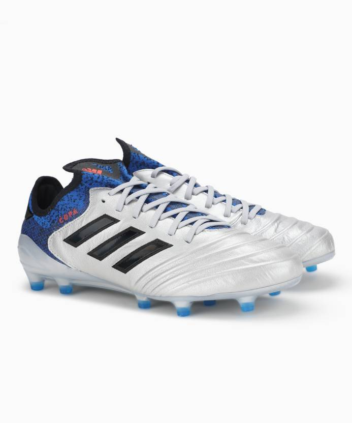online retailer 2fe0e 7f3e9 ADIDAS COPA 18.1 FG Football Shoes For Men (Blue, Silver)