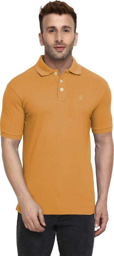 c29360ba0b Chkokko Solid Men's Polo Neck Yellow T-Shirt - Buy Chkokko Solid ...