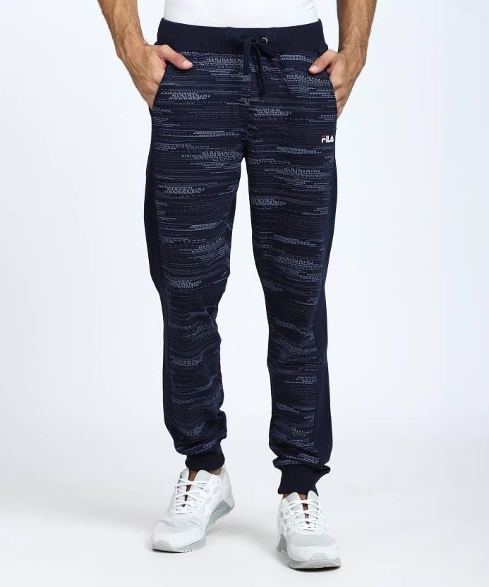 65ffc535210f2 Fila Printed Men Dark Blue Track Pants - Buy Pea Fila Printed Men Dark Blue  Track Pants Online at Best Prices in India | Flipkart.com