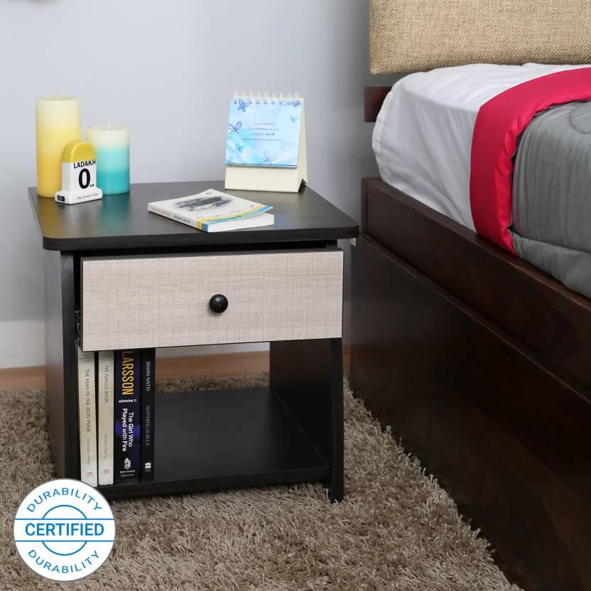 Valtos Engineered Wood Bedside Table Finish Color   Wenge