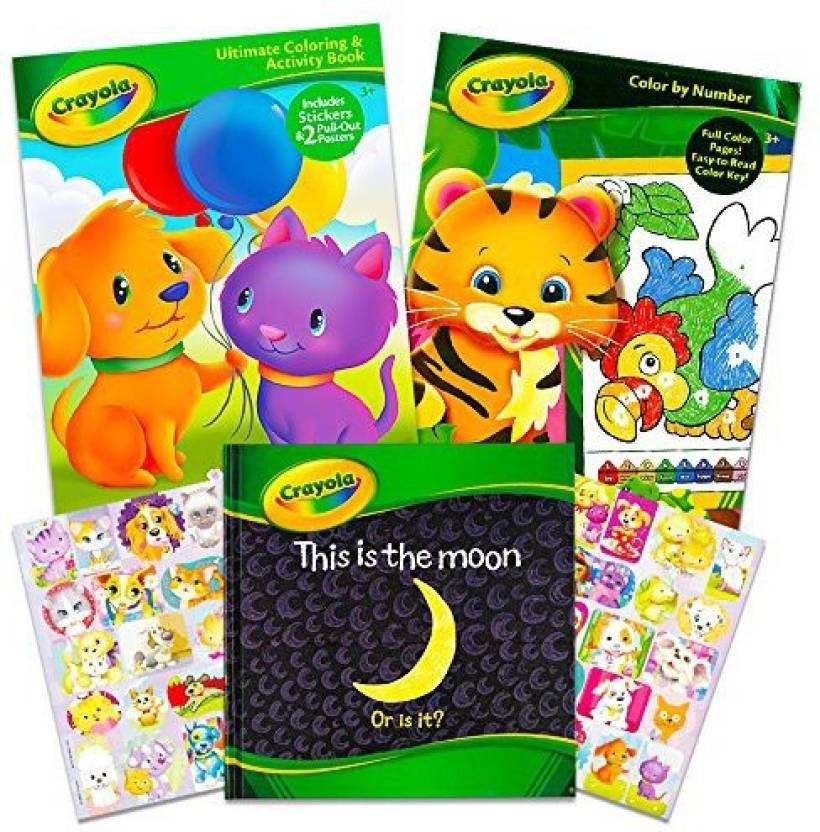 Crayola Coloring and Activity Books Set with Story Book (2 Jumbo ...