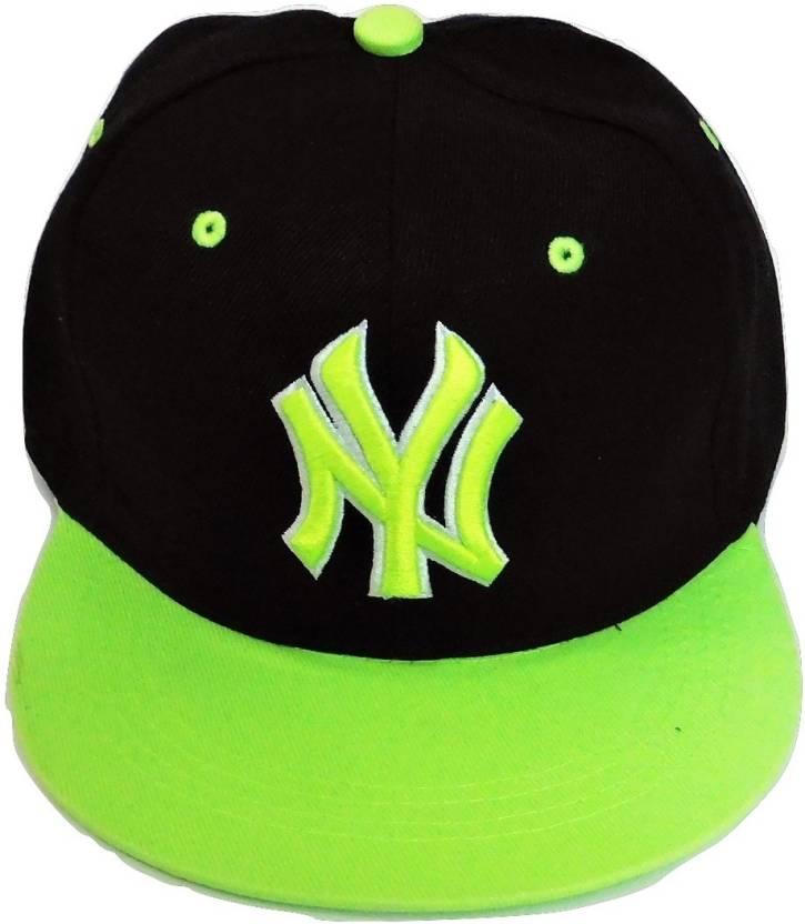 Fasuch Men s Ny Caps Black   Green Cap - Buy Fasuch Men s Ny Caps Black   Green  Cap Online at Best Prices in India  56ceaa85336