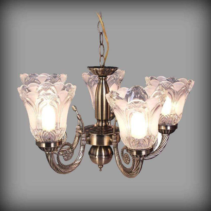 Emporiumlight Antique 5 Lamp Jhumar Decorative Chandelier Ceiling Lamp