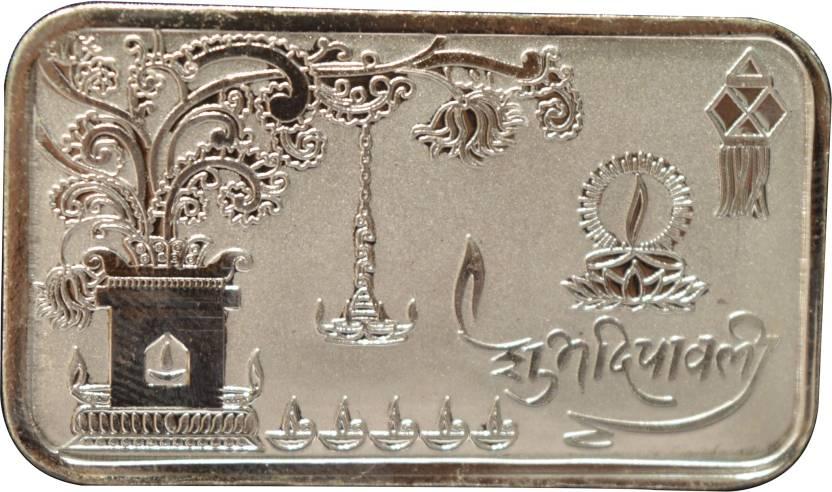 Kataria Jewellers Shubh Deepawali Diwali S 999 10 G Silver Bar Price
