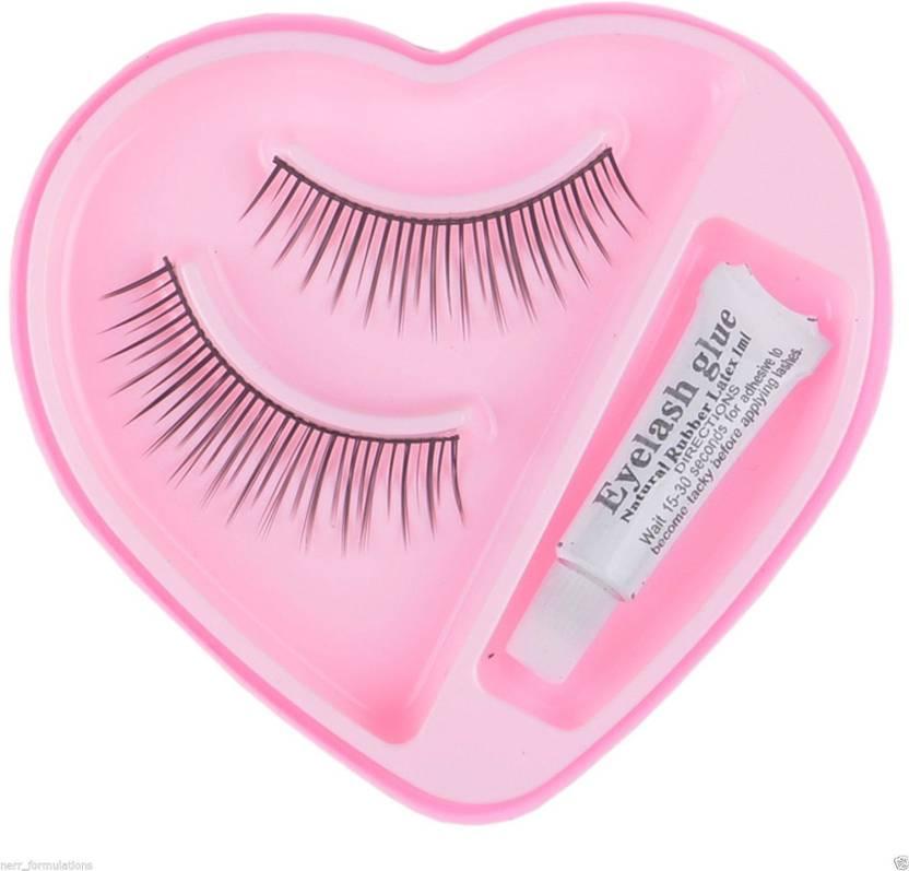 d77c8db8516 NERR Soft Natural Black Thick Long False Eyelashes Makeup Extension Pack  Of2Pair Fake Eyelashes (Pack of 1)