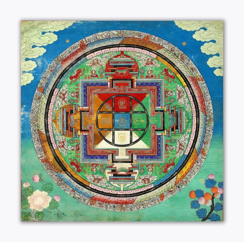Tamatina Thangka Canvas Painting - Traditional Art - Chakra