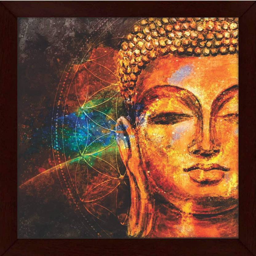 Jazz My Mobile Wood Beautifully Printed Buddha Wall Art Painting