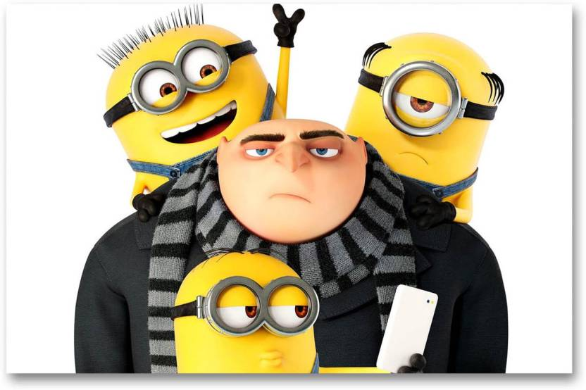 Hollywood Movie Wall Poster - Despicable Me 3 - Felonious Gru With Three  Minions - HD Quality Movie Poster Paper Print (12 inch X 18 inch b92d7785b0