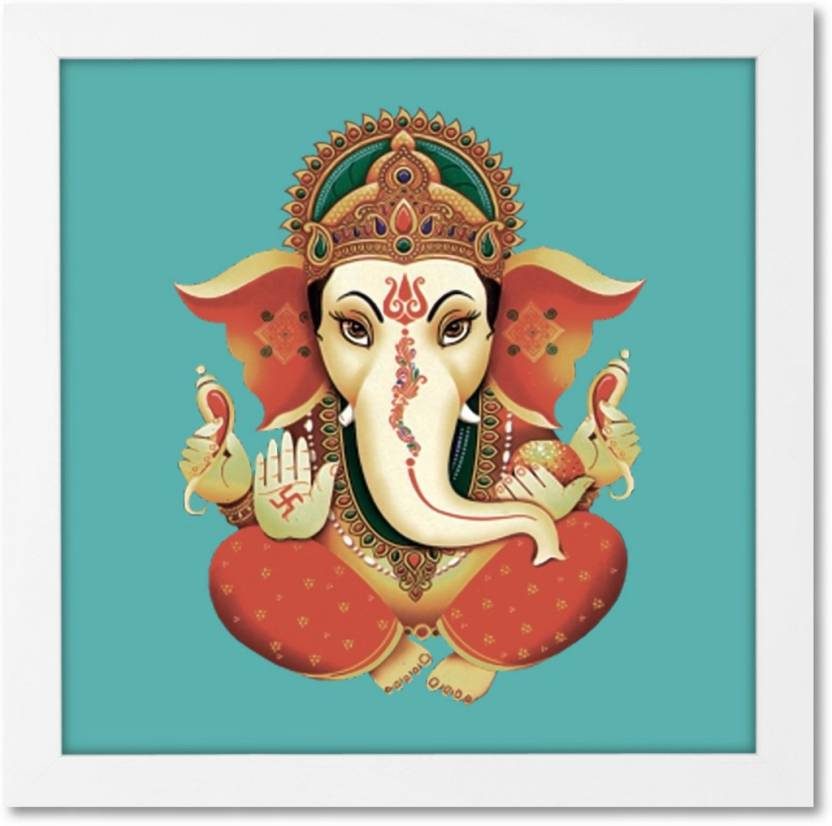 Multicolor Ganesha Chathurtiacrylic Single Wall Art Mural Vivid Home