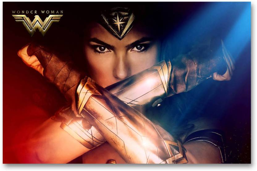 Hollywood Movie Wall Poster Wonder Woman Diana Prince Gal