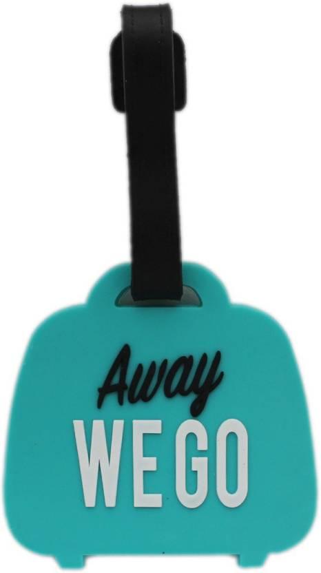 6f5ff663c0a0 Shoppernation Luggage Tag Away We Go - Blue (6LNT39) - Bag Travel Tags  Luggage Tag (Multicolor)