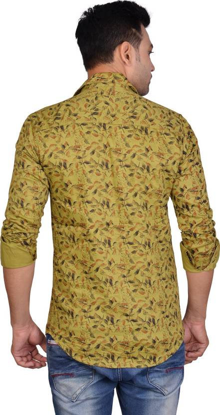 895ea1f08ce La Milano Men Floral Print Casual Yellow Shirt - Buy La Milano Men Floral  Print Casual Yellow Shirt Online at Best Prices in India