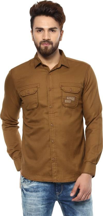 5c3be407 Mufti Men Solid Casual Brown Shirt - Buy Mufti Men Solid Casual Brown Shirt  Online at Best Prices in India   Flipkart.com