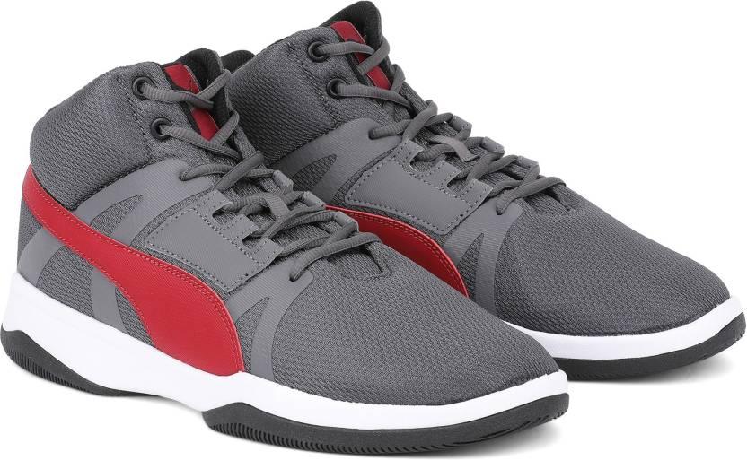 innovative design 92963 05d03 Puma Puma Rebound Street BSK IDP Basketball Shoes For Men (Grey)