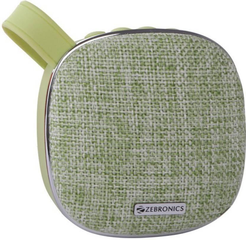 Zebronics ZEB PASSION 3 W Bluetooth Speaker Green, 2.1 Channel