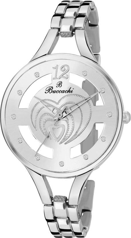 4eaa0f55845 Buccachi B-L1058-SL-SL AWESOME SKELETON SILVER DIAL LADIES Watch - For Women  - Buy Buccachi B-L1058-SL-SL AWESOME SKELETON SILVER DIAL LADIES Watch -  For ...
