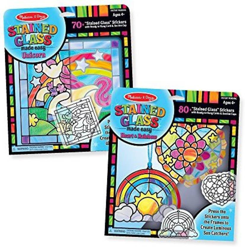 Melissa & Doug Stained Glass Made Easy Peel & Press Craft