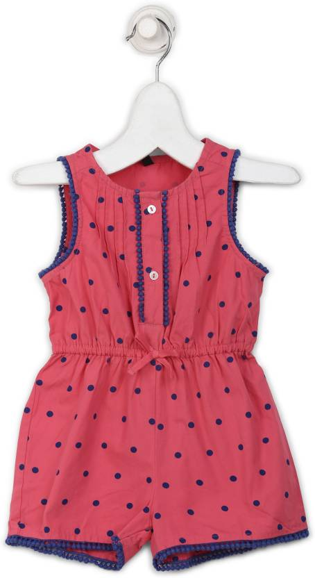 2fbaef44ac5 United Colors of Benetton Romper For Girls Polka Print Cotton Price ...