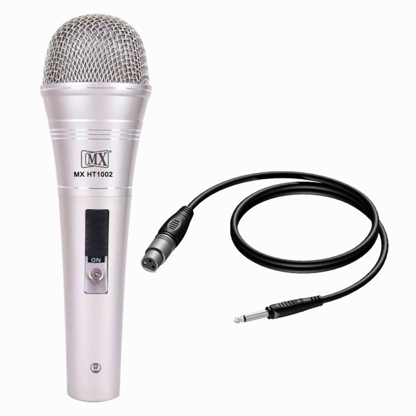 MX 2 Pcs of Multi purpose Dynamic Mic Vocal Microphones With Xlr To Mono Cable Full Metal HT 1002 Microphone