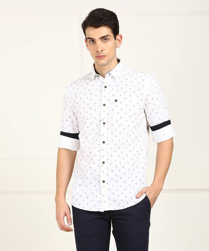67cab31943a5 ARROW BLUE JEANS CO. Men Printed Casual White Shirt - Buy ARROW BLUE JEANS  CO. Men Printed Casual White Shirt Online at Best Prices in India |  Flipkart.com
