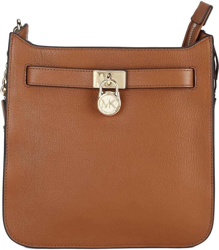 df14c654e418 Michael Kors Women Casual Brown Genuine Leather Sling Bag ACORN - Price in  India | Flipkart.com