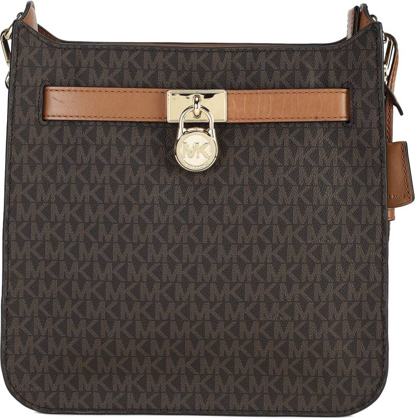 112e5c29f0b9 Michael Kors Women Casual Brown Genuine Leather Sling Bag MARRONE - Price  in India | Flipkart.com