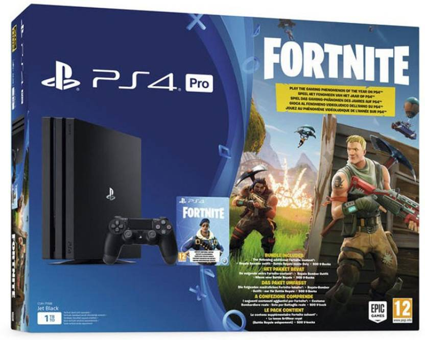 bdebdd462883a Sony PlayStation 4 (PS4) Pro 1 TB with Fortnite Price in India - Buy ...