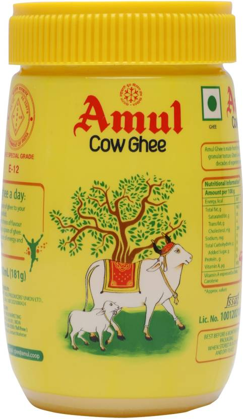 Amul Cow Ghee 200 ml Plastic Bottle Price in India - Buy