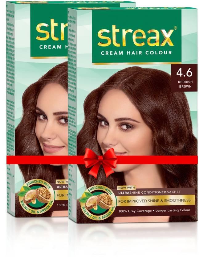 d995546fffd Streax Cream Hair Colour-Pack of 2 Hair Color (Reddish Brown No-4.6)