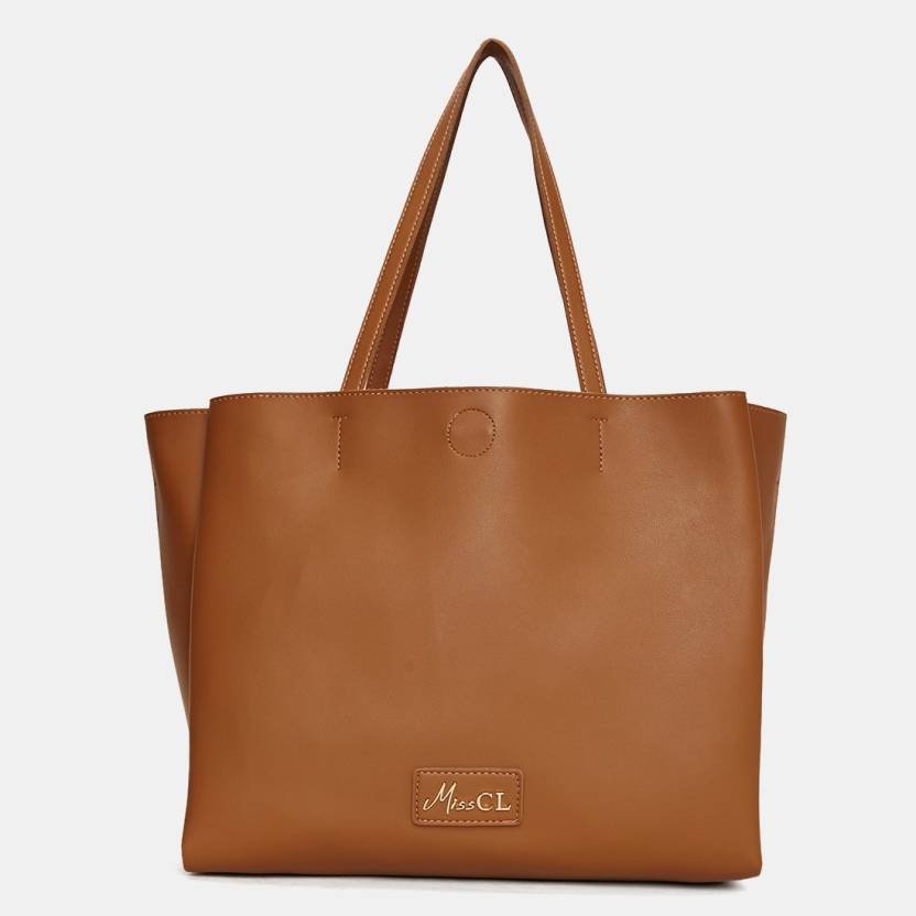 784d9e7cb4ee Buy Miss CL Tote Brown Online   Best Price in India