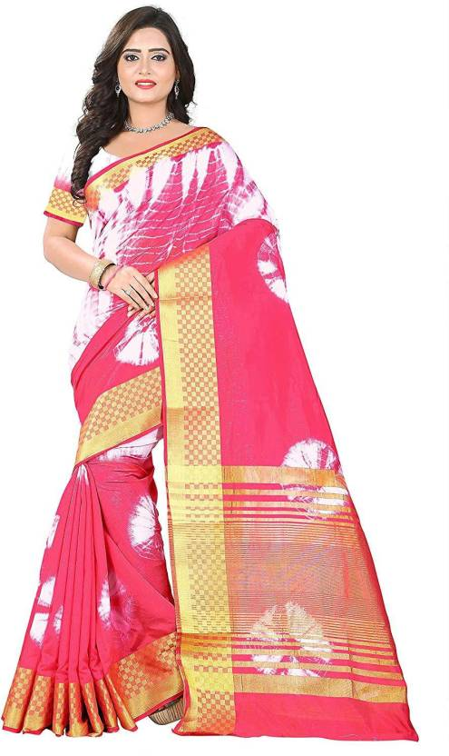 57d0a5ae19 Buy Availkart Printed Fashion Cotton Silk Pink Sarees Online @ Best ...