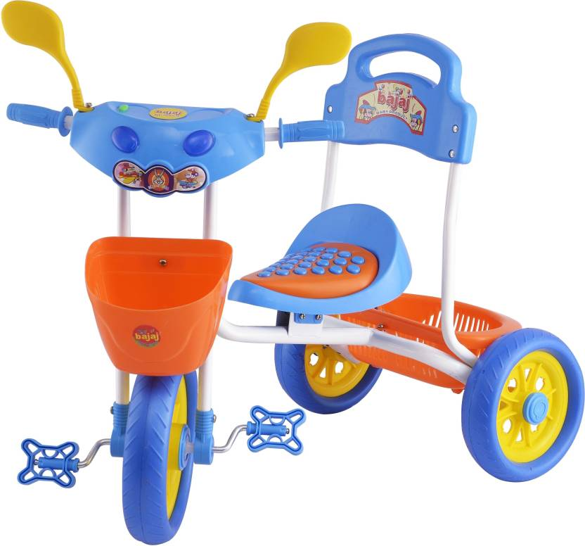 9759f4e1c2b kayoksh BABY TRICYCLE FOR KIDS WITH FRONT OR BACK BASKET WITH MUSICAL KIDS  TRICYCLE BLUE, ...