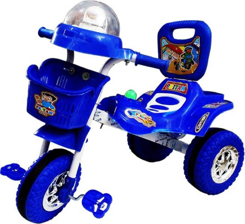 41abc5eb112 imtion High Rang Plastic Quality Tricycle Kids Used Color Blue With Fancy  Musical System Vice Tri-01 Tricycle (Blue)