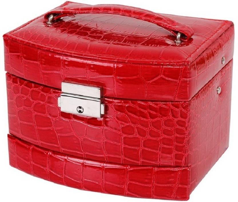 7ee5c862c178 Medetai Women Makeup Carrying Case Casket Jewelry Leather Organizer ...