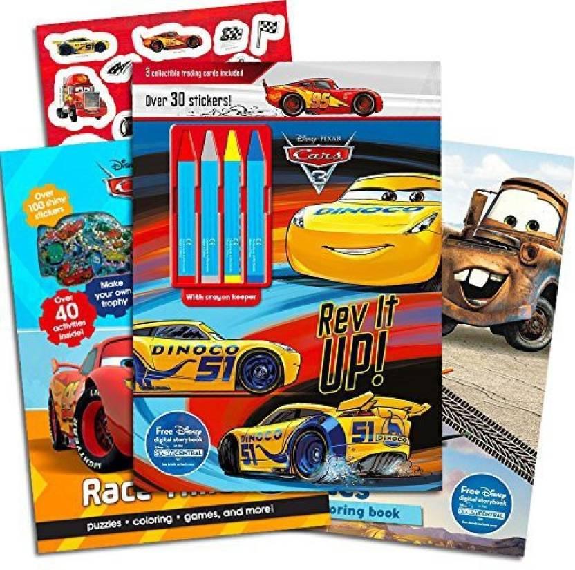 Parragon Disney Cars Coloring Book Super Set Kids Toddlers -- 3 ...