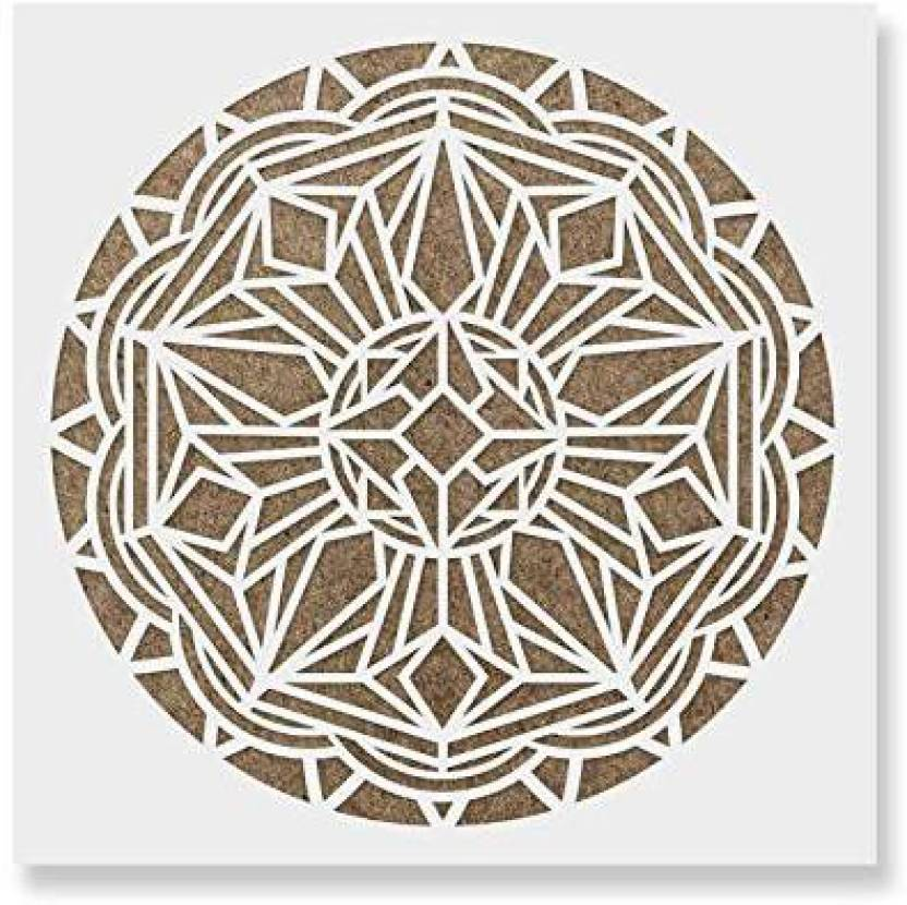 acd3c4530 Genrc Deco Mandala Stencil Template for Walls and Crafts - Reusable Stencils  for Painting in Small   Large Sizes - Deco Mandala Stencil Template for  Walls ...