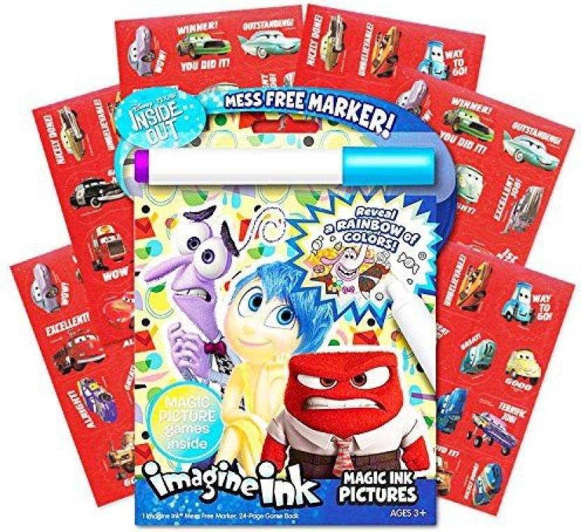 Bendon Disney Pixar Inside Out No Mess Coloring Set with Stickers ...