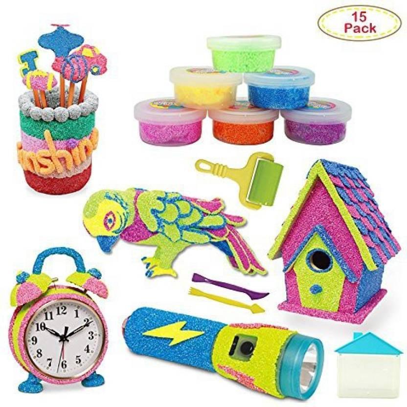Dear Deer Fun Play Foam House Decorating Foam Play Kit Creativity