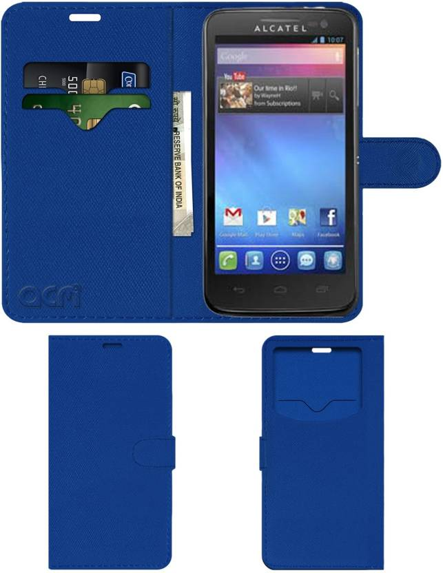 ACM Flip Cover for Alcatel One Touch Sapphire 2 - ACM : Flipkart com