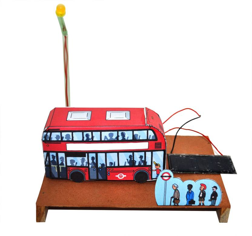 ProjectsforSchool Solar Bus Stand Scene School Project and