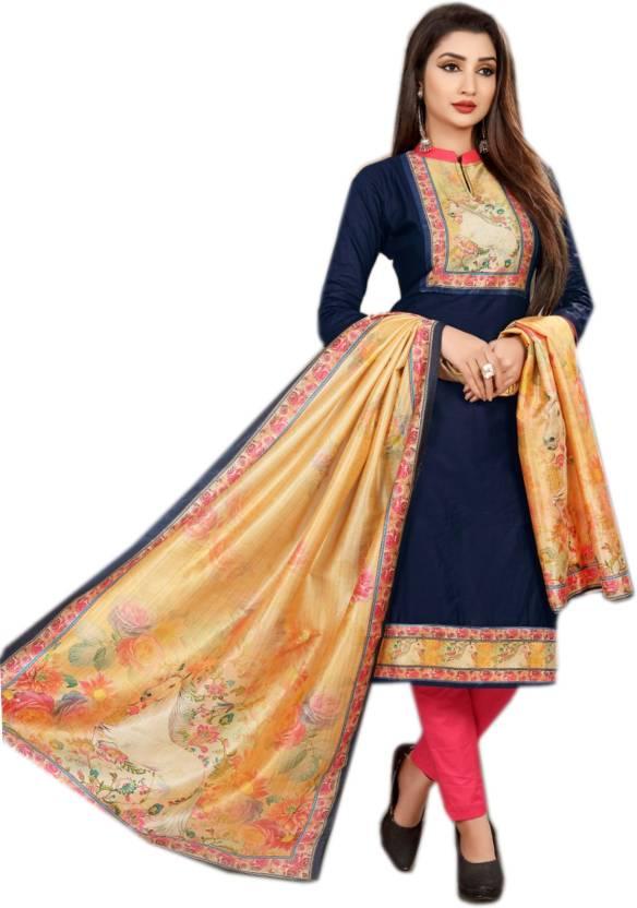 7d75808063 BKRKJ Cotton Silk Blend Printed Salwar Suit Dupatta Material Price ...