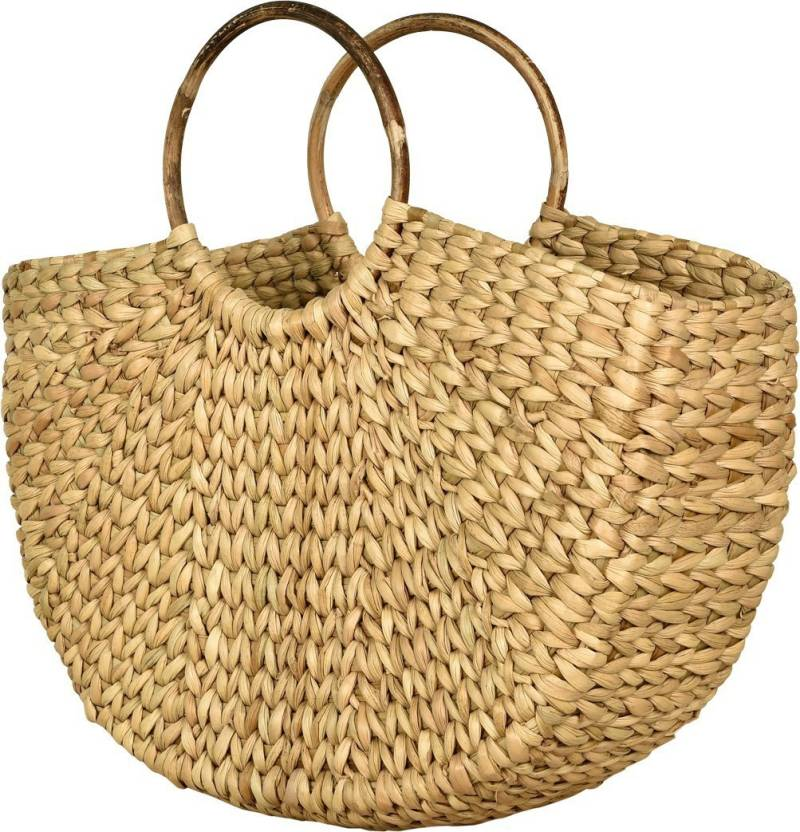 LBohe Straw-dry grass/ Natural Cane/ Handbag-Shopping bag-Market Bag