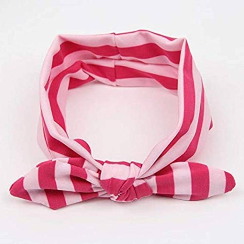 6b6705a2569 Smartcraft Stripes Knot Bow Headband- Red