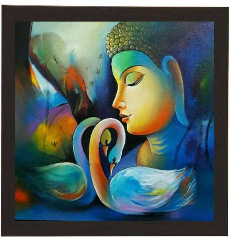 557b6e4d4a97 WAQI Buddha With Swan Art Canvas Painting Price in India - Buy WAQI ...