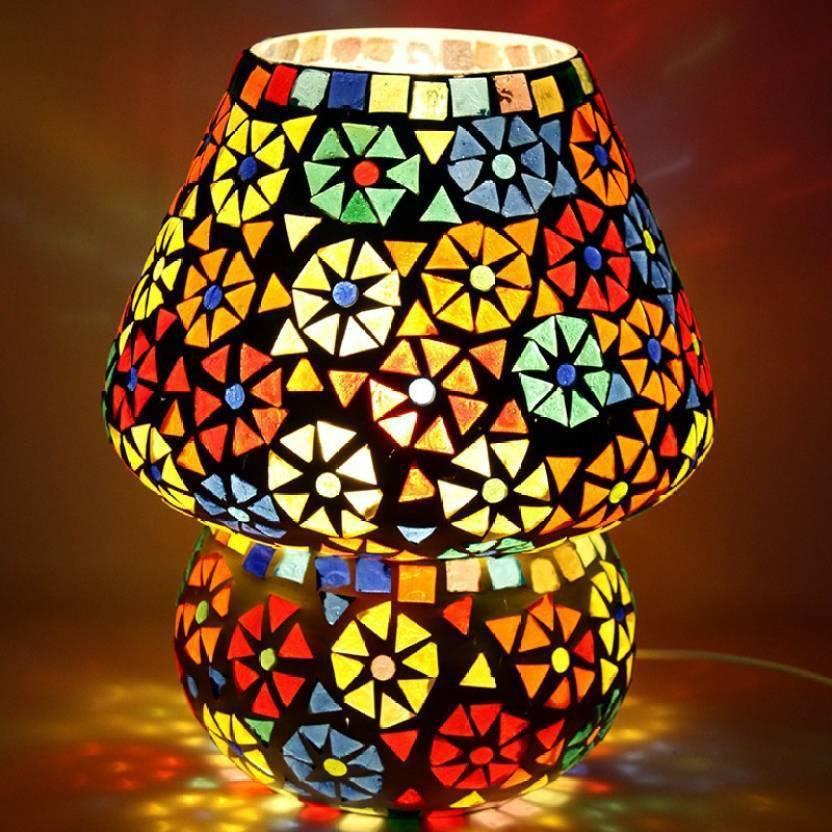 Surprising Mozaic Handcrafted Multi Color Mushroom Shaped Antique Interior Design Ideas Clesiryabchikinfo
