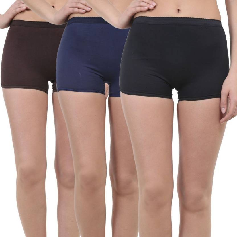 0756b2c9bf1 GLAMORAS Women Boy Short Brown, Black, Blue Panty - Buy GLAMORAS ...