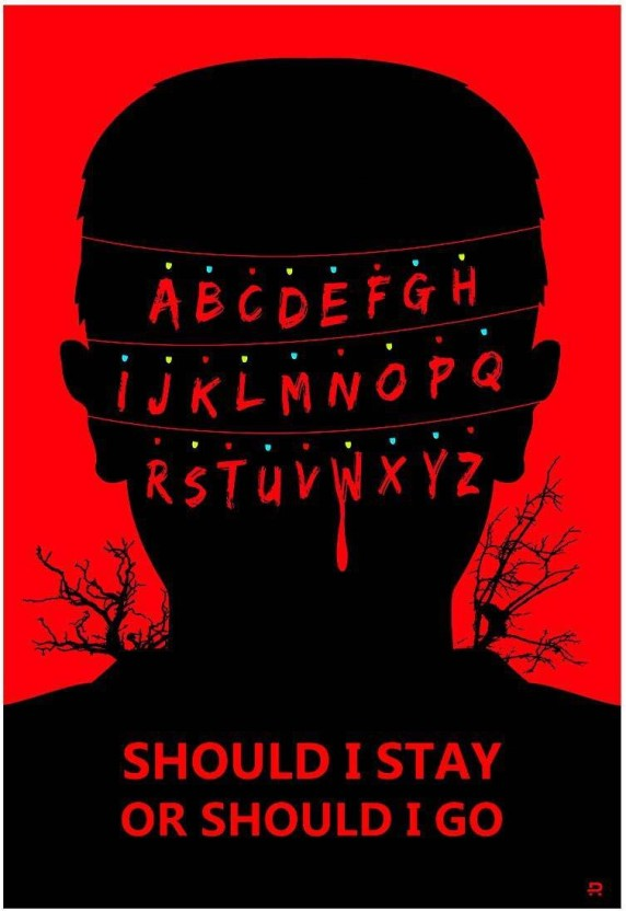 size 24x36 STRANGER THINGS 3 CAST POSTER